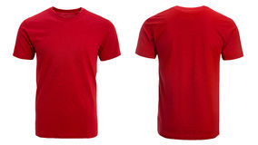 Red t-shirt, clothes. On isolated white background Royalty Free Stock Photos