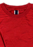 Red T-shirt Design with Tags and Labels Royalty Free Stock Photography