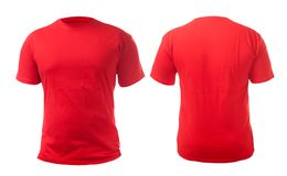 Red Shirt Design Template stock images