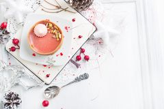 Red fruit tart with meringues Royalty Free Stock Image