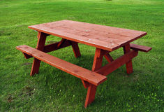 Red Table Stock Images