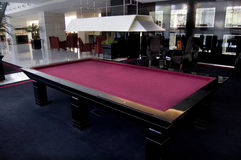 Red table of billiard Royalty Free Stock Images