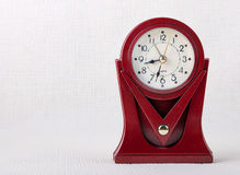 Red table clock Stock Image