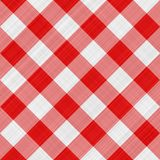 Red table cloth Stock Photo