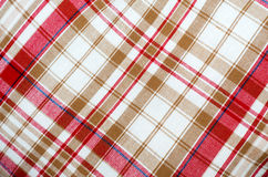 Red table cloth background Stock Photos