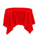 Red table cloth Royalty Free Stock Image