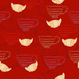 Red table-cloth Stock Image