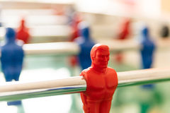 RED table fotball player in selective focus Royalty Free Stock Images