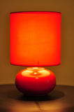 Red table lamp Royalty Free Stock Photo