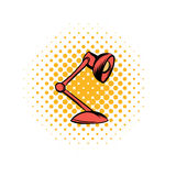 Red table lamp comics icon Royalty Free Stock Photo