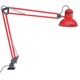 Red table lamp Stock Image