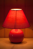 Red table lamp Royalty Free Stock Image