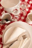 Red table setting Royalty Free Stock Photography