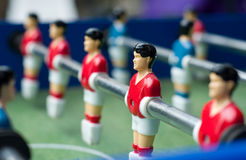 Red table soccer players Stock Photography