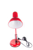 The red table top adjustable lamp isolated on white Royalty Free Stock Images