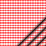 Red tablecloth Stock Photography