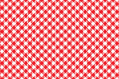 Red tablecloth diagonal background seamless pattern Royalty Free Stock Images