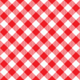 Red tablecloth diagonal seamless pattern Stock Images