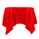 Red tablecloth. Isolated Stock Images