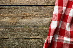Red tablecloth Royalty Free Stock Photos