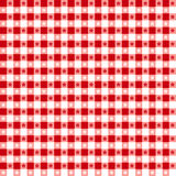 Red Tablecloth Seamless Pattern Stock Photography
