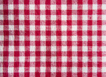 Red tablecloth tablecloth. Stock Image