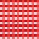 Red tablecloth Vector. Traditional tablecloth pattern Vector. Red color square pattern. Vector. Geometrical simple square pattern Stock Photos