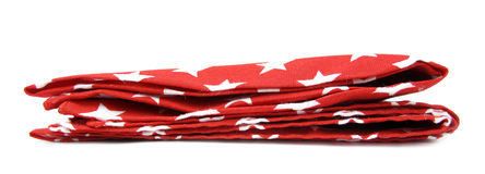 Red tablecloth with white stars Stock Photography