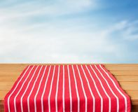 Red tablecloth Royalty Free Stock Image