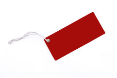 Red Tag Stock Image