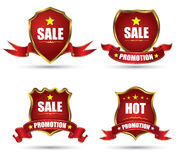 Red Tag banner collection Royalty Free Stock Photography