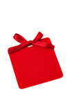 Red tag with bow Stock Image