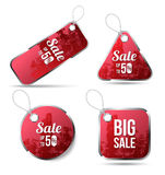 Red tag label for sale promotion texture. Royalty Free Stock Image