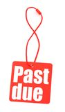 Red tag with with past due inscription Stock Image