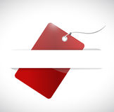 Red tag and pocket illustration design Stock Photography