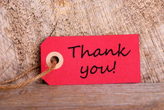 Red Tag with Thank You royalty free stock photo