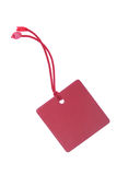 Red Tag With Clipping Path Royalty Free Stock Photo