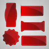 Red tags vector illustration