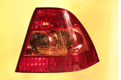 The red taillight of the car on a white background Stock Images