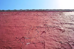 Red tall wall Stock Images