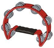 Red tambourine Stock Images
