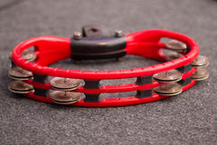 Red tambourine Royalty Free Stock Image