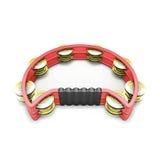 Red tambourine Royalty Free Stock Photo