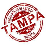 Tampa stamp with white background Royalty Free Stock Photo