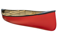 Red tandem canoe isolated Stock Images
