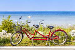 Red Tandem Stock Photo