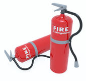 Red Tank of Fire extinguisher Stock Images
