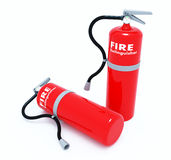 Red Tank of Fire extinguisher Stock Photos