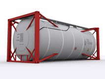 Red tankcontainer Royalty Free Stock Photography
