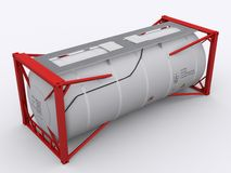 Red tankcontainer Stock Photos